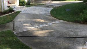 Driveway pressure wash in Raleigh,NC